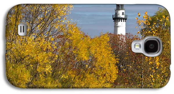 Wind Point Lighthouse In Fall Galaxy S4 Case