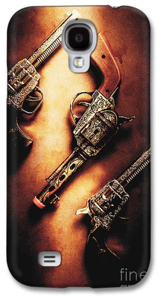 Wild West Cap Guns Galaxy S4 Case by Jorgo Photography - Wall Art Gallery
