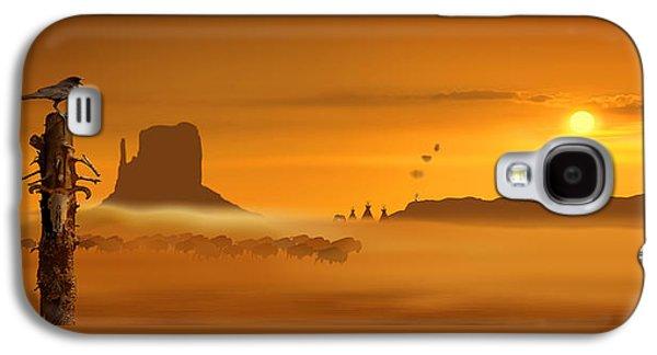Wild West Panorama Galaxy S4 Case