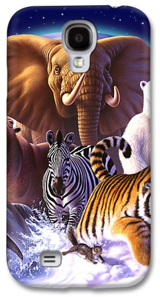 Hippopotamus Galaxy S4 Case - Wild World by Jerry LoFaro