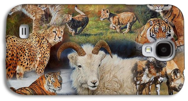 Wildlife Collage Galaxy S4 Case by David Stribbling