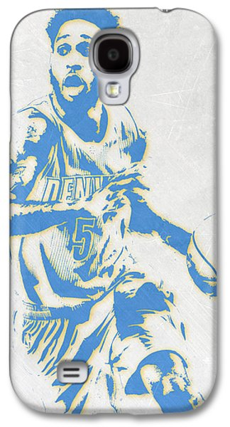 Will Barton Denver Nuggets Pixel Art Galaxy S4 Case by Joe Hamilton