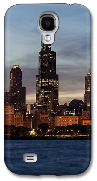 Willis Tower Galaxy S4 Cases - Willis Tower at Dusk aka Sears Tower Galaxy S4 Case by Adam Romanowicz