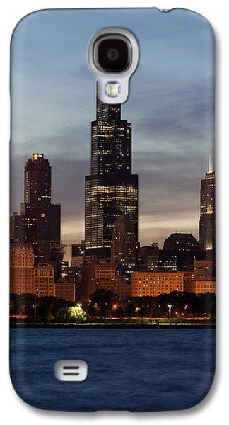 Willis Tower At Dusk Aka Sears Tower Galaxy S4 Case by Adam Romanowicz