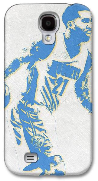 Wilson Chandler Denver Nuggets Pixel Art Galaxy S4 Case by Joe Hamilton