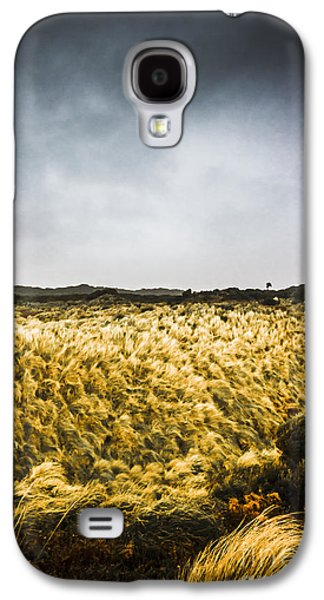 Wind Blown Grassland  Galaxy S4 Case by Jorgo Photography - Wall Art Gallery