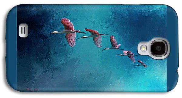 Spoonbill Galaxy S4 Case - Wind Surfing by Marvin Spates