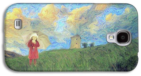 Windmill Girl Galaxy S4 Case