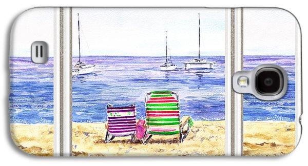 Window Of The Beach House Galaxy S4 Case