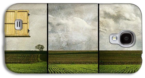 Window To Farmland Triptych Galaxy S4 Case