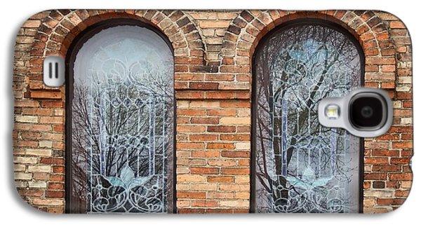 Windows - First Congregational Church - Jackson - Michigan Galaxy S4 Case by Nikolyn McDonald