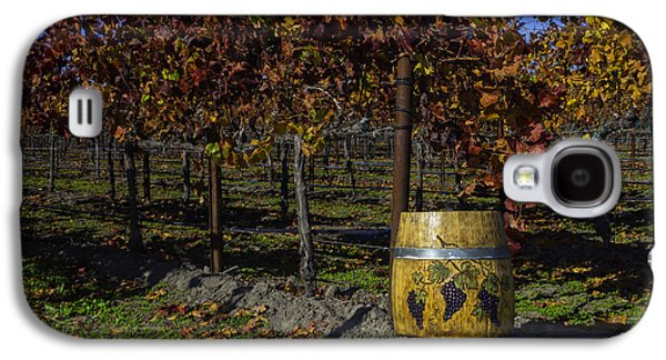 Wine Barrel In Vienyard Galaxy S4 Case by Garry Gay