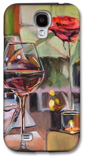 Wine By Candlelight Galaxy S4 Case by Donna Tuten