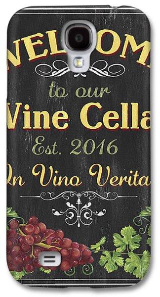 Wine Cellar Sign 1 Galaxy S4 Case by Debbie DeWitt