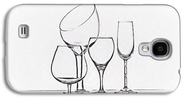 Wineglass Graphic Galaxy S4 Case by Tom Mc Nemar