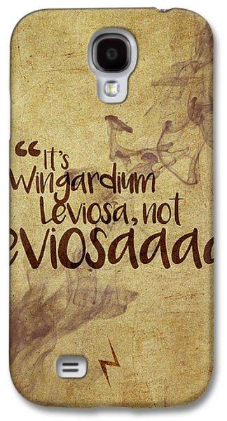 Wizard Galaxy S4 Case - Wingardium by Samuel Whitton