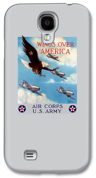 Eagle Galaxy S4 Case - Wings Over America - Air Corps U.s. Army by War Is Hell Store