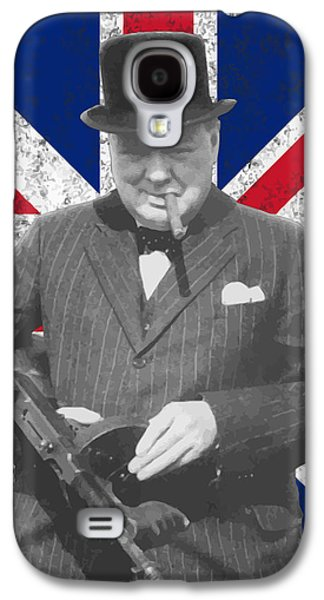 Winston Churchill And Flag Galaxy S4 Case