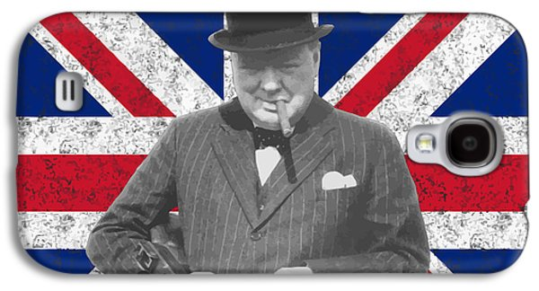Winston Churchill And His Flag Galaxy S4 Case