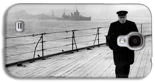 Boat Galaxy S4 Case - Winston Churchill At Sea by War Is Hell Store