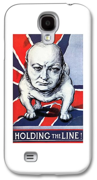 Winston Churchill Holding The Line Galaxy S4 Case by War Is Hell Store