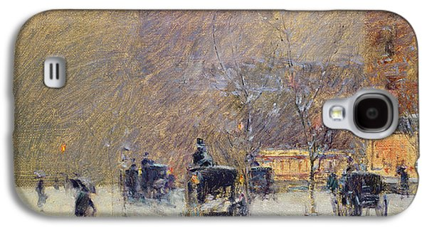 Winter Afternoon In New York Galaxy S4 Case by Childe Hassam