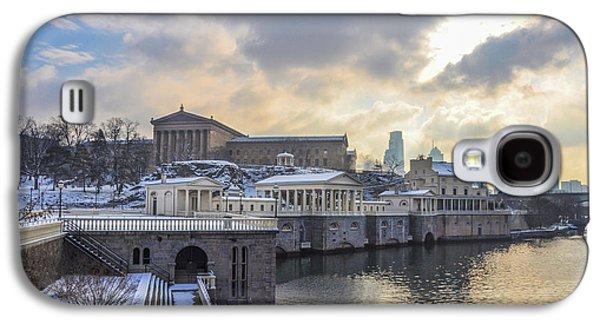 Winter At Fairmount Waterworks In Philadelphia Galaxy S4 Case by Bill Cannon