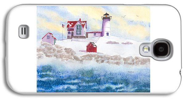 Winter At Nubble Lighthouse  Galaxy S4 Case