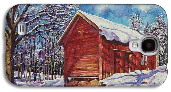Winter At The Old Barn Galaxy S4 Case by David Lloyd Glover