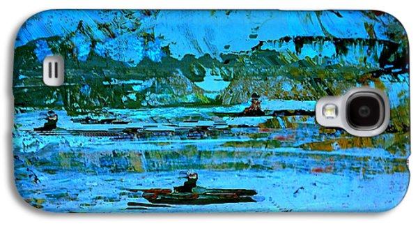Fantasy Landscape With Figure Galaxy S4 Case - Winter Canoes by Nancy Kane Chapman