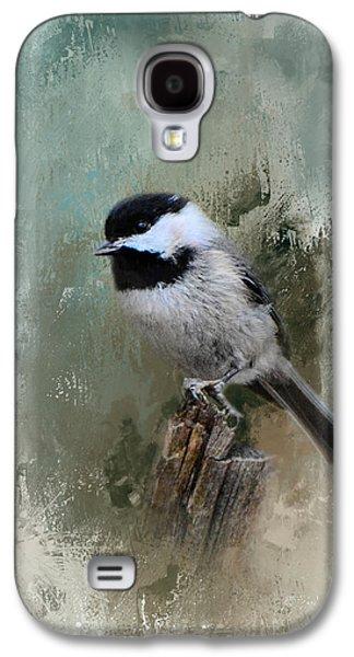 Winter Chickadee Galaxy S4 Case by Jai Johnson