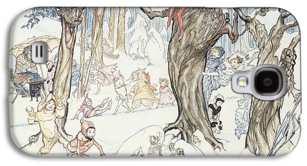 Winter Frolic Galaxy S4 Case by Arthur Rackham