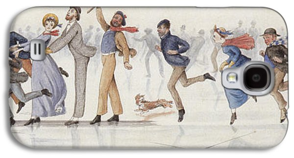 Winter Fun Galaxy S4 Case by Charles Altamont Doyle