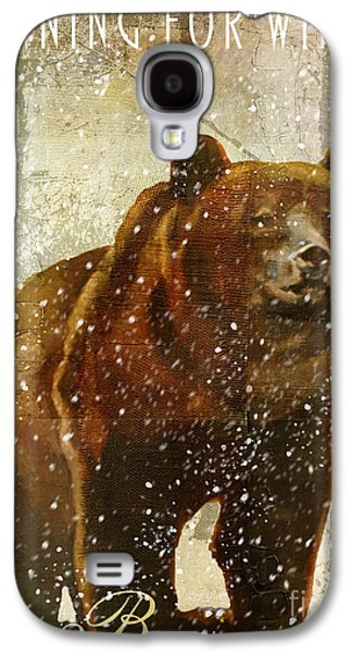 Winter Game Bear Galaxy S4 Case by Mindy Sommers