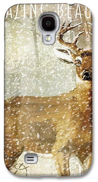 Winter Game Deer Galaxy S4 Case by Mindy Sommers