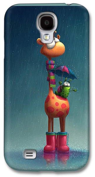 Winter Giraffe Galaxy S4 Case by Tooshtoosh