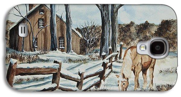 Winter Grazing  Galaxy S4 Case by Charlotte Blanchard