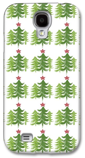 Winter Holiday Trees 1-  Art By Linda Woods Galaxy S4 Case by Linda Woods