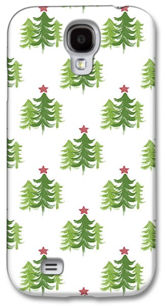 Winter Holiday Trees 2- Art By Linda Woods Galaxy S4 Case by Linda Woods