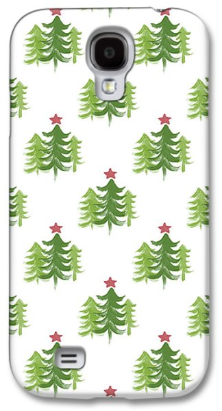 Winter Holiday Trees 2- Art By Linda Woods Galaxy S4 Case