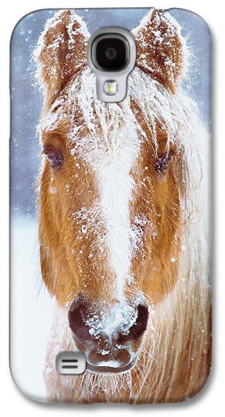 Winter Horse Portrait Galaxy S4 Case by Debi Bishop