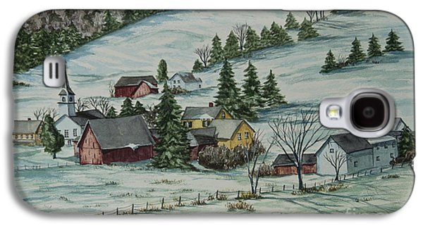 Winter In East Chatham Vermont Galaxy S4 Case by Charlotte Blanchard