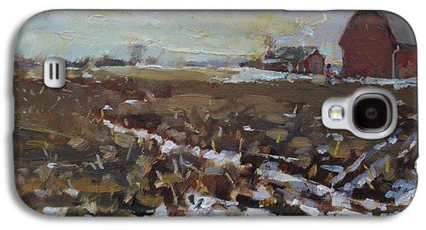 Winter In The Farm Galaxy S4 Case by Ylli Haruni