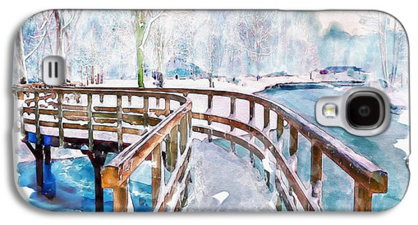 Winter In The Park Galaxy S4 Case by Marian Voicu