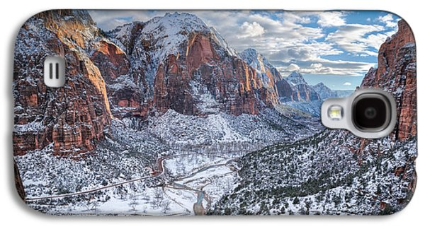 Winter In Zion National Park Galaxy S4 Case by James Udall