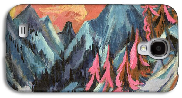 Winter Landscape In Moonlight Galaxy S4 Case by Ernst Ludwig Kirchner