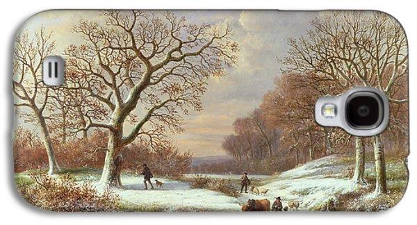 Winter Landscape Galaxy S4 Case by Louis Verboeckhoven