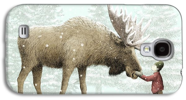 Winter Moose Galaxy S4 Case by Eric Fan