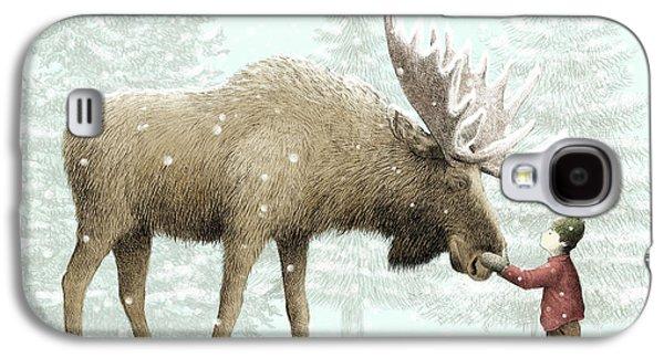 Winter Moose Galaxy S4 Case by Eric Fan
