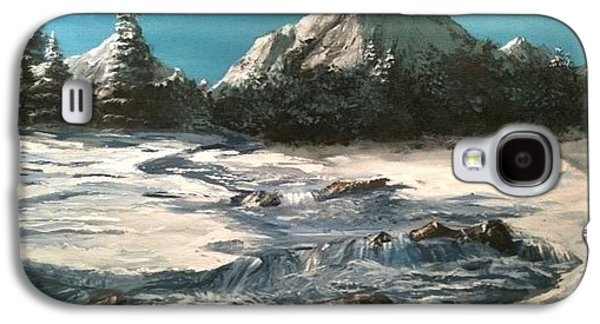 Winter Mountain Stream Galaxy S4 Case